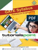 Gate Petroleum Engineering Syllabus