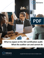 What to Expect at the Certification Audit What the Auditor Can and Cannot Do En