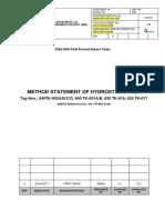 Method Statement of Hydrostatic Test