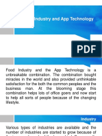 Food Industry and App Technology