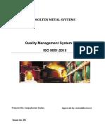 Global Quality Manual Iso 9001 2015