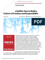 How Netflix Built a Culture of 'Freedom and Responsibility'