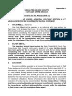 Award Criteria Appendix-I (2019)