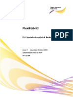 FHY IDU Installation Quick Reference Guide