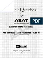 Sample Paper ASAT VII
