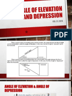 Angle of Elevation and Depression
