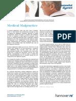 Emerging-risks Medical Malpractice