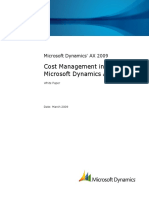 Microsoft Dynamics AX 2009 - Cost Management Whitepaper