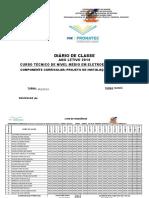 mODELO DE Diario de Classe