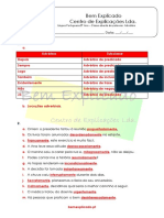1.11.4 - Ficha de Trabalho - Advérbio (2) - Soluções