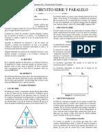 Informe 3 Circuito Serie y Paralelo