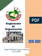 Reglamento de Organización y Funciones Sicaya 19-05