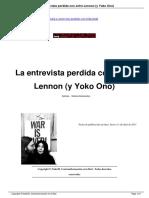 La ultima entrevista a John Lennon