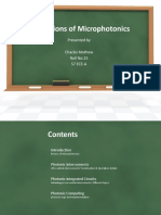Applications of Microphotonics