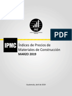 Indices de Preciosde Materiales de Construccion Demarzo Del 2019