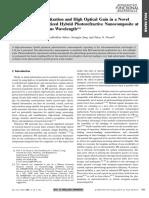 Efficient Photosensitization and High Optical