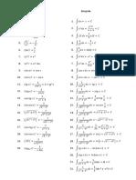Tabel Derivate Integrale
