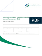 Technical Guidance Document for Environmental Impact Assessment (EIA)