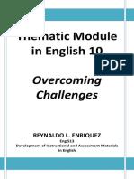 Thematic Module in English 10