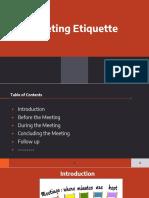 Meeting Etiquettes