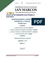 Informe Final 8 Circuitos Electricos