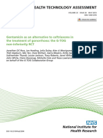 Gentamicin as an alternative to ceftriaxone in the treatment of gonorrhoea