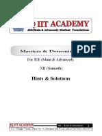 1-Matrices & Determinants