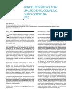 Investigacion Del Registro Glacial Del Cambio Climatico en El Complejo Volcanico Nevado Coropuna