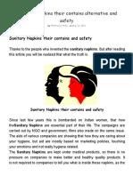 Sanitary Napkins Their Contains Alternative and Safety - Lifeis4joy 1