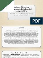 Valores Éticos en Responsabilidad Social Corporativa