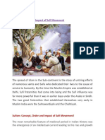 Sufi Movement Order and Impact