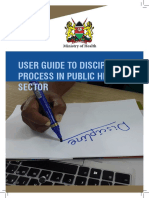 User guide to disciplinary procedure
