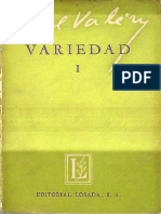 Paul Valery. Variedad I