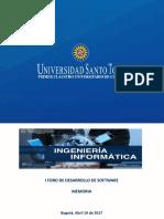 Memoria I Foro Desarrollo de Software IngInf