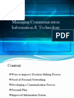 managing communication and information technology