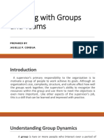 Working with Groups and Teams