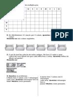 Completa a Tabela Da Multiplicação
