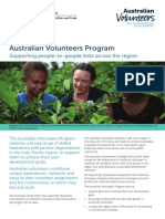 Australian Volunteers Program Supporting People to People Links Across the Region