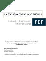 Cultura y Estilo Institucional