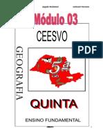 Apostila Ensino Fundamental  CEESVO - Geografia - Módulo 03