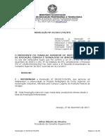 CS 65 - Referenda a Resolução N 38.2017CS.ifs Que Aprovou Ad Referendum a Reformulação Do PPC Do Curso Superior Em Automação Industrial Do Campus Lagarto Do IFS