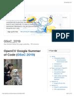GSoC_2019 · Opencv:Opencv Wiki · GitHub