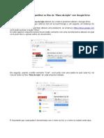 Instruções Compartilhamento Plano de Açao Google Drive