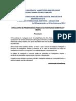 Reglamento de Presentación de Trabajos de Investigacion