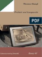 Freiheit Und Langeweile - Thomas Stangl