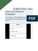 Qué Es La Deep Web y Cómo Entro en La Internet Profunda