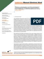 El Derecho a La Nacionalidad y Los Límites Convencionales Del Ius Sanguinis (Una Aproximación Al Conflicto Entre La República Dominicana y La Corte Interamericana de Justicia)