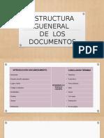 ESTRUCTURA GENERAL DE LOS DOCUMENTOS