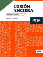 Inclusión Financiera y El Costo Del Uso de Instrumentos Financieros Formales Las Experiencias de América Latina y El Caribe
