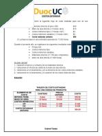 Costos Estandar Ejercicio n 1
